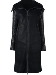Isaac Sellam Experience Shearling Coat Black