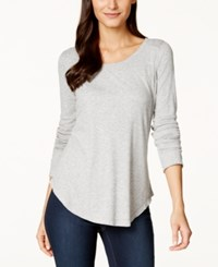 Inc International Concepts Solid Long Sleeve Top Only At Macy's