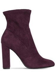 Steve Madden 100Mm Editt Stretch Faux Suede Boots Bordeaux