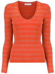 Spacenk Nk Knit Blouse Yellow And Orange