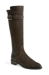 Aquatalia By Marvin K Women's Aquatalia 'Gael' Weatherproof Riding Boot Graphite Suede