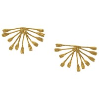 Alex Monroe 22Ct Gold Plated Fanned Seed Earrings