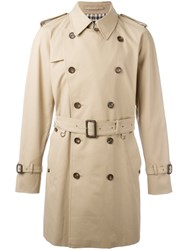 Aquascutum London Double Breasted Trench Coat Nude Neutrals