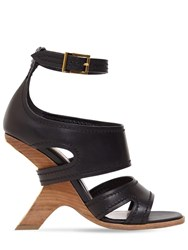 Alexander Mcqueen 90Mm Leather Sandals Black
