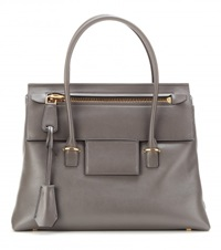 Tom Ford Icon Medium Leather Tote Grey