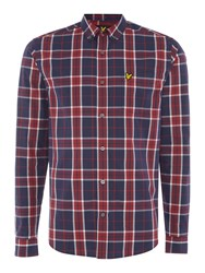 Lyle And Scott Long Sleeve Check Shirt Ruby