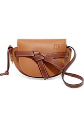 Loewe Gate Mini Textured Leather Shoulder Bag Tan