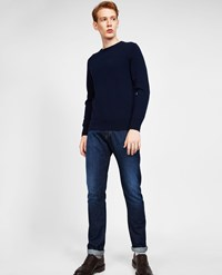 Aspesi Cashmere Roundneck Sweater Navy Blue