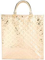 Louis Vuitton Vintage Sac Plat Hand Tote Bag Metallic