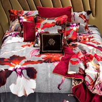 Roberto Cavalli Wild Flora Duvet Set Red Super King