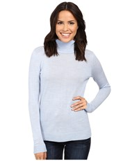 Pendleton Timeless Turtleneck Chambray Blue Heather Women's Clothing