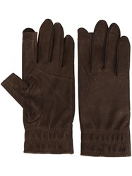 Rick Owens Short Gloves Brown