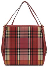 Burberry Shoes And Accessories Checked Tote Multicolor