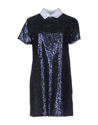 Shirtaporter Short Dresses Dark Blue