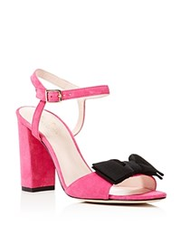 Kate Spade New York Isabel Too Bow High Heel Sandals Pink Swirl