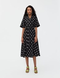 Stine Goya Kylie Wrap Dress Black Daisy