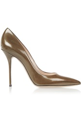 Casadei Patent Leather Pumps Brown