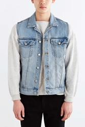 Cheap Monday Staple Gilet Denim Trucker Jacket Blue