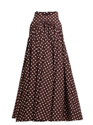 Calvin Klein 205W39nyc Polka Dot Twill Mini Dress Brown White