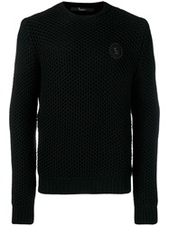 Billionaire Knit Logo Jumper Black