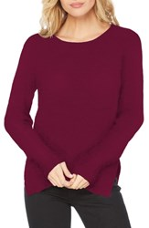 Michael Stars Cotton Knit Pullover Berry