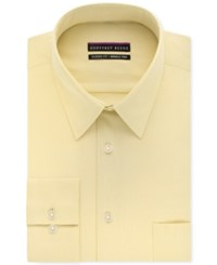 Geoffrey Beene Men's Big And Tall Classic Fit Wrinkle Free Bedford Cord Solid Dress Shirt Buttercream
