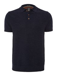 White Stuff Men's Marina Short Sleeve Polo Knit Navy