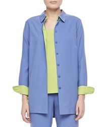 Go Silk Colorblocked Shirt Plus Size Blue Green