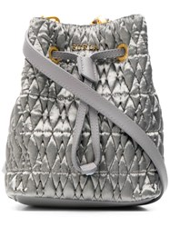 Furla Stasy Cometa Small Velvet Bag Grey