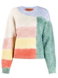 Missoni Colorblock Jumper Green