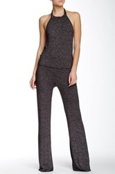 Riller And Fount Halter Neck Wide Legged Jumpsuit Brown