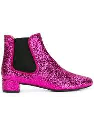 Pretty Ballerinas Glitter Ankle Boots Pink And Purple