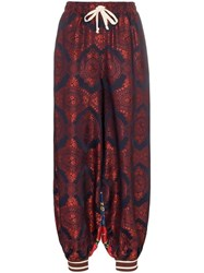 Gucci Contrast Print Track Trousers Blue