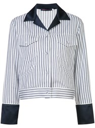 Harvey Faircloth Engineer Stripe Jacket White