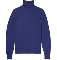Loro Piana Baby Cashmere Rollneck Sweater Blue