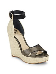 Vince Camuto Maurita Leather And Suede Espadrille Wedge Sandals Oxford