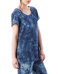 Alternative Apparel Upgraded Tie Dyed Jersey Tee Blue