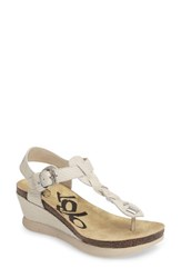 Otbt Women's 'Graceville' Platform Wedge Sandal Sport White Leather