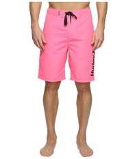 Hurley One Only 2.0 Boardshorts 22 Neon Pink Men's Swimwear