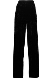 Tibi Velvet Wide Leg Pants Black