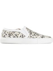 Givenchy Floral Slip On Sneakers Multicolour
