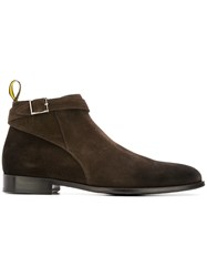 Doucal's Buckle Low Top Boots Brown