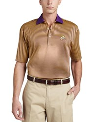 Peter Millar Lsu Tigers Gameday College Shirt Polo Striped Purple Yellow
