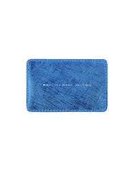 Marc By Marc Jacobs Small Leather Goods Document Holders Men Blue