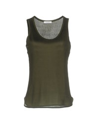 I Blues Tank Tops Dark Green