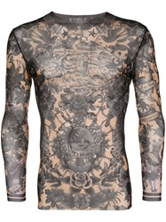 Dsquared2 Aloha Printed Top Black