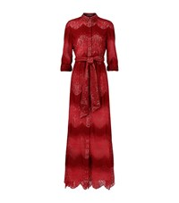 Alice Olivia Sina Lace Shirt Dress Female Red
