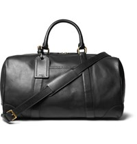 Polo Ralph Lauren Leather Duffle Bag Black