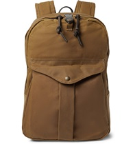 Filson Journeyman Leather Trimmed Canvas Backpack Brown