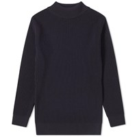 S.N.S. Herning Fender Rib High Neck Crew Knit Blue